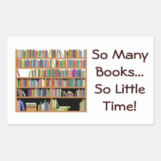 So Many Books (customizable) Rectangular Sticker