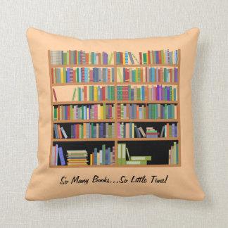 So Many Books (customizable) Throw Pillow
