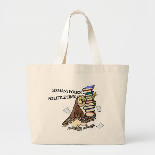 So Many Books Large Tote Bag