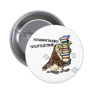 So Many Books Pinback Button