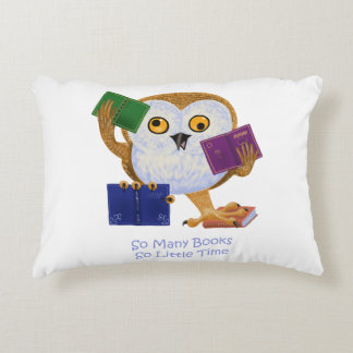 So many books so little time accent pillow