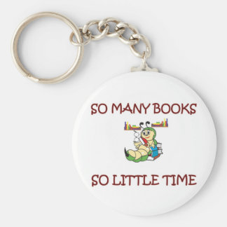 SO MANY BOOKS SO LITTLE TIME BASIC ROUND BUTTON KEYCHAIN