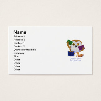 So Many Books So Little Time Business Card