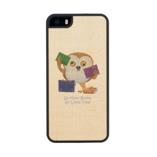 So Many Books So Little Time Carved® Maple iPhone 5 Slim Case