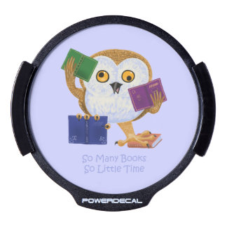 So Many Books So Little Time LED Car Window Decal