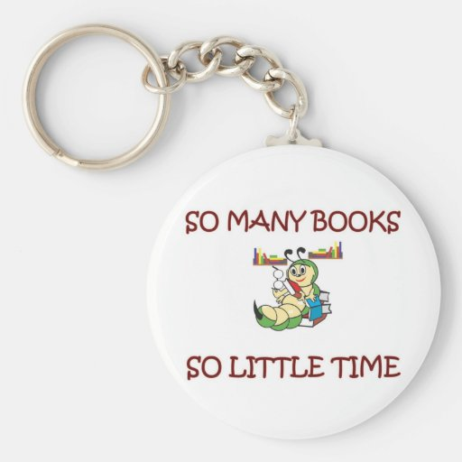 SO MANY BOOKS SO LITTLE TIME KEY CHAINS