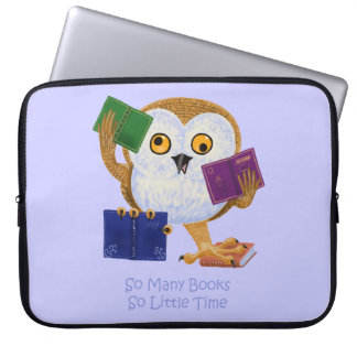 So Many Books So Little Time Laptop Sleeves