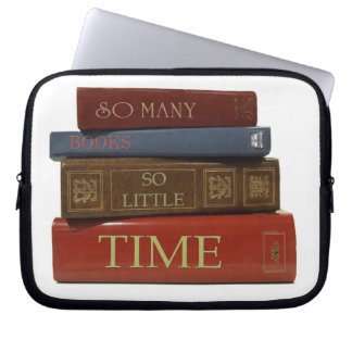 So Many Books So Little Time Notebook Sleeve Laptop Sleeves