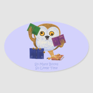 So Many Books So Little Time Oval Sticker