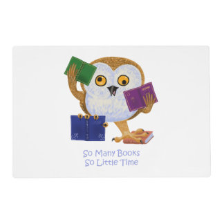 So many books so little time placemat