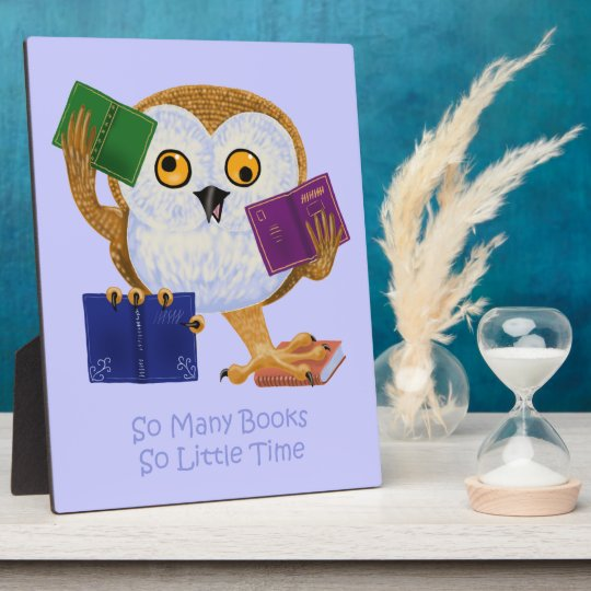 So Many Books So Little Time Plaque