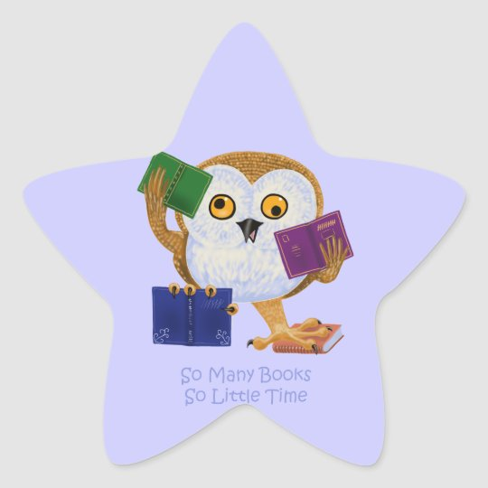So Many Books So Little Time Star Sticker