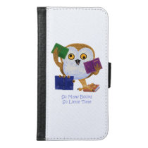 So many books so little time wallet phone case for samsung galaxy s6