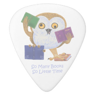 So many books so little time white delrin guitar pick