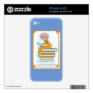 So Many Books to Write Skins For iPhone 4