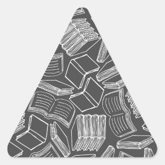 So Many Books Triangle Sticker