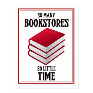 So Many Bookstores, So Little Time Postcard