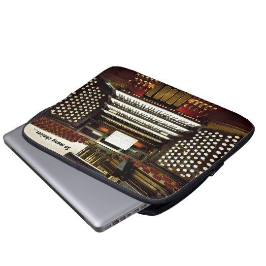 So many choices funny pipe organ laptop sleeve