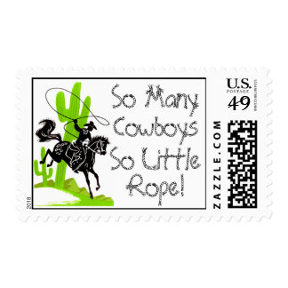 So Many Cowboys - So LIttle Rope! Postage