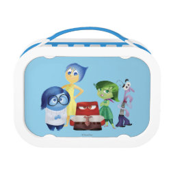 Blue yubo Lunch Box with All Emotions: Joy, Sadness, Anger, Disgust & Fear design