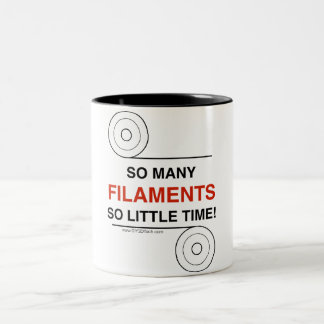 So many Filaments, So Little Time Coffee Mug! Two-Tone Coffee Mug