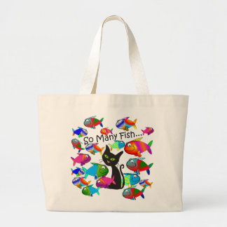"""So Many Fish"" Cat Lovers Gifts Tote Bags"