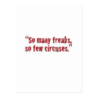 """""""So many freaks... Postcard"""
