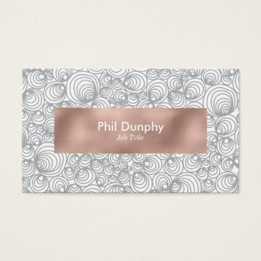 Professional Business So Many Grey Circles Business Card