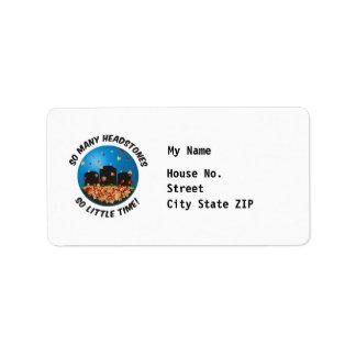 So Many Headstones - Customized Address Label