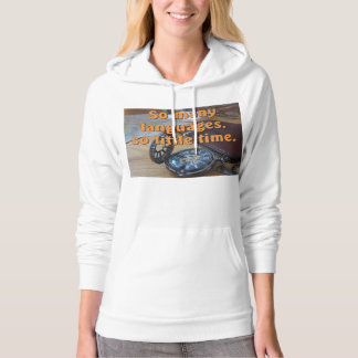 So many languages. So little time. Full image Hoodie