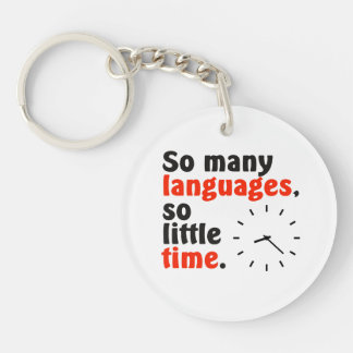 So many languages. So little time. Simple clock. Keychain