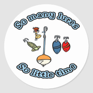 So many lures T-shirts and Gifts. Classic Round Sticker
