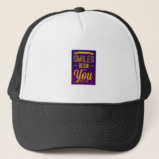 So Many of My Smiles Begin With You Trucker Hat