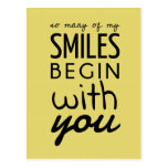 So Many Of My Smiles Inspirational Postcard