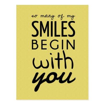everydaylovers So Many Of My Smiles Inspirational Postcard
