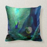 So Many Peacocks Art Designer Pillow