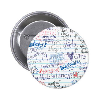 So Many School Doodles Pinback Button