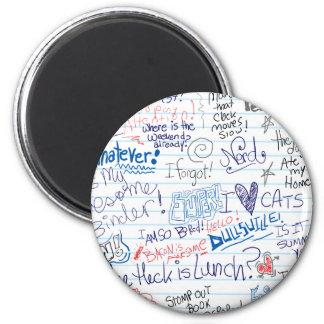 So Many School Doodles Refrigerator Magnet