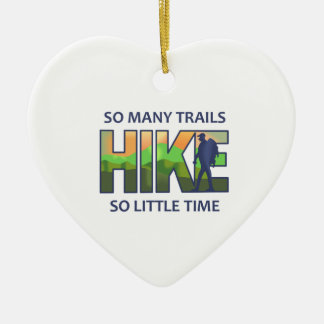 SO MANY TRAILS Double-Sided HEART CERAMIC CHRISTMAS ORNAMENT
