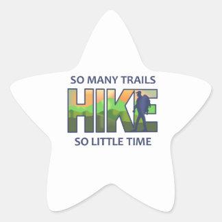 SO MANY TRAILS STAR STICKER