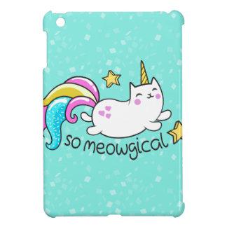 So Meowgical Cute Unicorn kitty glitter sparkles iPad Mini Covers