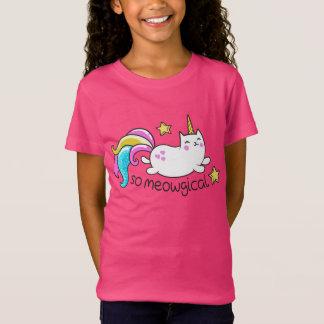 So Meowgical Cute Unicorn kitty glitter sparkles T-Shirt