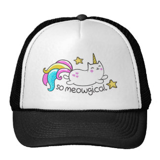 So Meowgical Cute Unicorn kitty glitter sparkles Trucker Hat