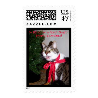 So Much for a Silent Night...  Merry ... Postage