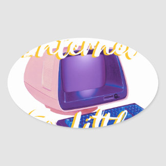 So Much Internet So Little Time Oval Sticker