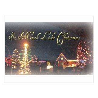 So Much Like Christmas Night Scenery Postcard