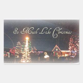 So Much Like Christmas Night Scenery Rectangular Sticker