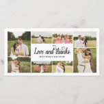 """So Much Love Collage   Thank You Photo Card<br><div class=""""desc"""">Photographs provided courtesy of &#169;Blush Photography</div>"""