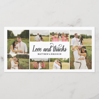 So Much Love Collage | Thank You Photo Card
