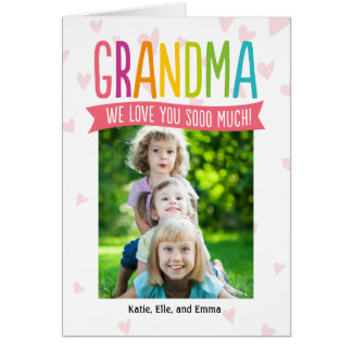 So Much Love Mothers Day Photo Card For Grandma